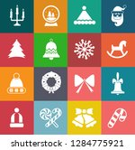 vector christmas icons set ... | Shutterstock .eps vector #1284775921