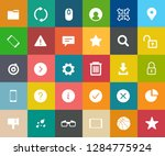 web icons set  communication... | Shutterstock .eps vector #1284775924