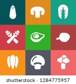 vegetables icons in set... | Shutterstock .eps vector #1284775957