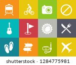 vector travel icons  vacation... | Shutterstock .eps vector #1284775981