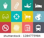 vector travel icons  vacation... | Shutterstock .eps vector #1284775984