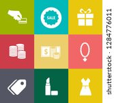 marketing icons set   vector... | Shutterstock .eps vector #1284776011
