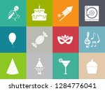 birthday party icons   vector... | Shutterstock .eps vector #1284776041