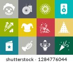 birthday party icons   vector... | Shutterstock .eps vector #1284776044