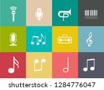 sound music icons set   audio... | Shutterstock .eps vector #1284776047