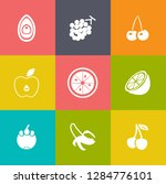 fruits icons set | Shutterstock .eps vector #1284776101