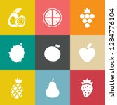 fruits icons set | Shutterstock .eps vector #1284776104
