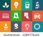 energy and ecology icons ... | Shutterstock .eps vector #1284776161