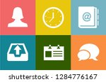 contact us icons  customer... | Shutterstock .eps vector #1284776167