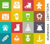vector christmas icons set ... | Shutterstock .eps vector #1284776194