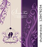 purple swirly invitation card... | Shutterstock .eps vector #128478254