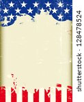grunge usa flag. a poster with... | Shutterstock .eps vector #128478524