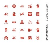 monochrome icon set. collection ... | Shutterstock .eps vector #1284788104