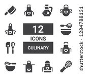 culinary icon set. collection... | Shutterstock .eps vector #1284788131