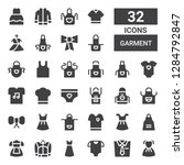 garment icon set. collection of ... | Shutterstock .eps vector #1284792847