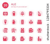 ale icon set. collection of 20... | Shutterstock .eps vector #1284795334