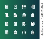 questionnaire icon set.... | Shutterstock .eps vector #1284795394