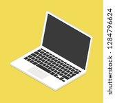 isometric laptop. vector... | Shutterstock .eps vector #1284796624