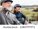 active senior couple with... | Shutterstock . vector #1284797971