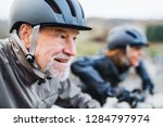 active senior couple with... | Shutterstock . vector #1284797974