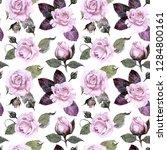 seamless watercolor pattern....   Shutterstock . vector #1284800161