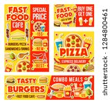 fast food and drinks menu.... | Shutterstock .eps vector #1284800461