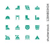 recreation icon set. collection ... | Shutterstock .eps vector #1284803434