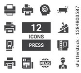 press icon set. collection of... | Shutterstock .eps vector #1284803587