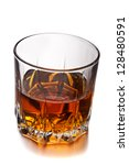 glass of whiskey isolated on... | Shutterstock . vector #128480591