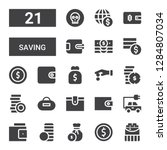 saving icon set. collection of... | Shutterstock .eps vector #1284807034