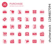 purchase icon set. collection... | Shutterstock .eps vector #1284807094