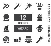 wizard icon set. collection of...   Shutterstock .eps vector #1284807181
