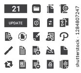 update icon set. collection of... | Shutterstock .eps vector #1284807247