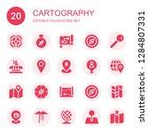 cartography icon set.... | Shutterstock .eps vector #1284807331