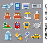 set of travel concept flat... | Shutterstock .eps vector #1284810391