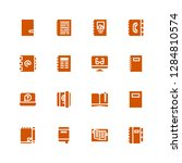 diary icon set. collection of... | Shutterstock .eps vector #1284810574