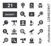 magnify icon set. collection of ... | Shutterstock .eps vector #1284810847