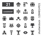 leadership icon set. collection ... | Shutterstock .eps vector #1284814921