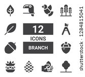 branch icon set. collection of...   Shutterstock .eps vector #1284815041