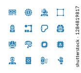 circuit icon set. collection of ... | Shutterstock .eps vector #1284819817