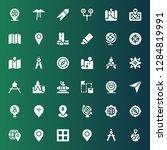 cartography icon set.... | Shutterstock .eps vector #1284819991