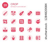 crop icon set. collection of 20 ... | Shutterstock .eps vector #1284820084
