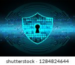 safety concept  closed padlock... | Shutterstock .eps vector #1284824644