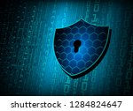 safety concept  closed padlock... | Shutterstock .eps vector #1284824647