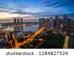 aerial view of dramatic sunrise ... | Shutterstock . vector #1284827524