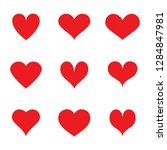 heart icons set isolated on... | Shutterstock .eps vector #1284847981