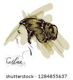 fashion girls face. woman face. ... | Shutterstock .eps vector #1284855637