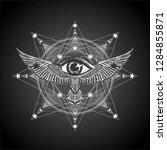 masonic symbol. black and white ... | Shutterstock .eps vector #1284855871