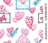 watercolor seamless pattern...   Shutterstock . vector #1284864874