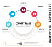 abstract infographics of... | Shutterstock .eps vector #1284868834